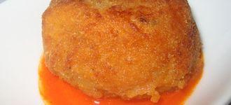 Bola picante de patata y carne