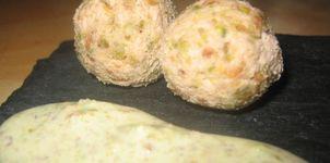 Bolitas de foie con pistachos