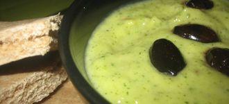 Crema de calabacín al queso