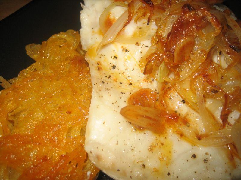 Doradas al orio sobre lecho de patatas