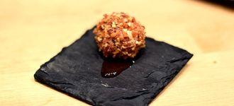 Ferrero Rocher de foie y manzana