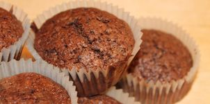 Muffins de doble chocolate