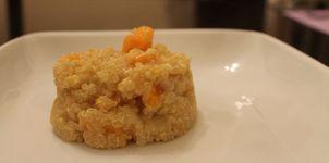 Quinoa con calabaza y queso