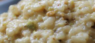 Risotto de pistachos y gorgonzola