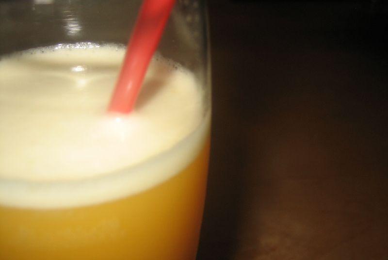 Sorbete de vodka con mandarinas