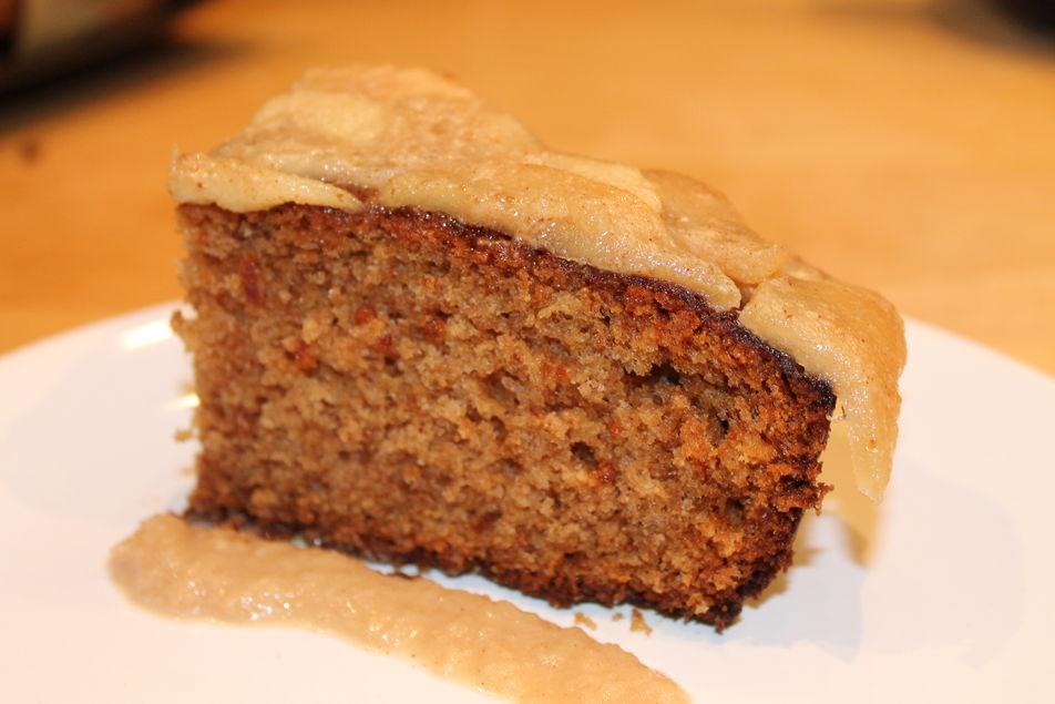 Tarta de manzana a la crema de orujo