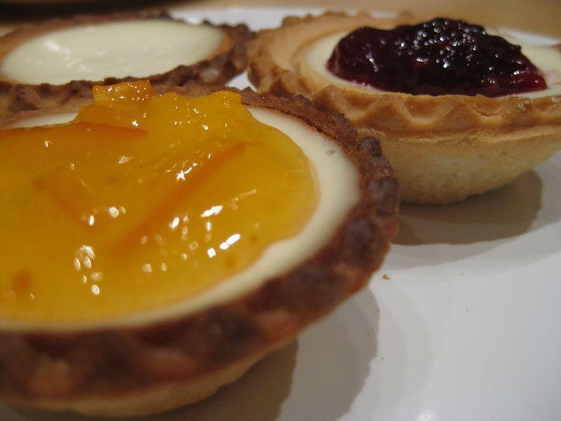 Tartaletas de queso (Cheesecake monodosis)
